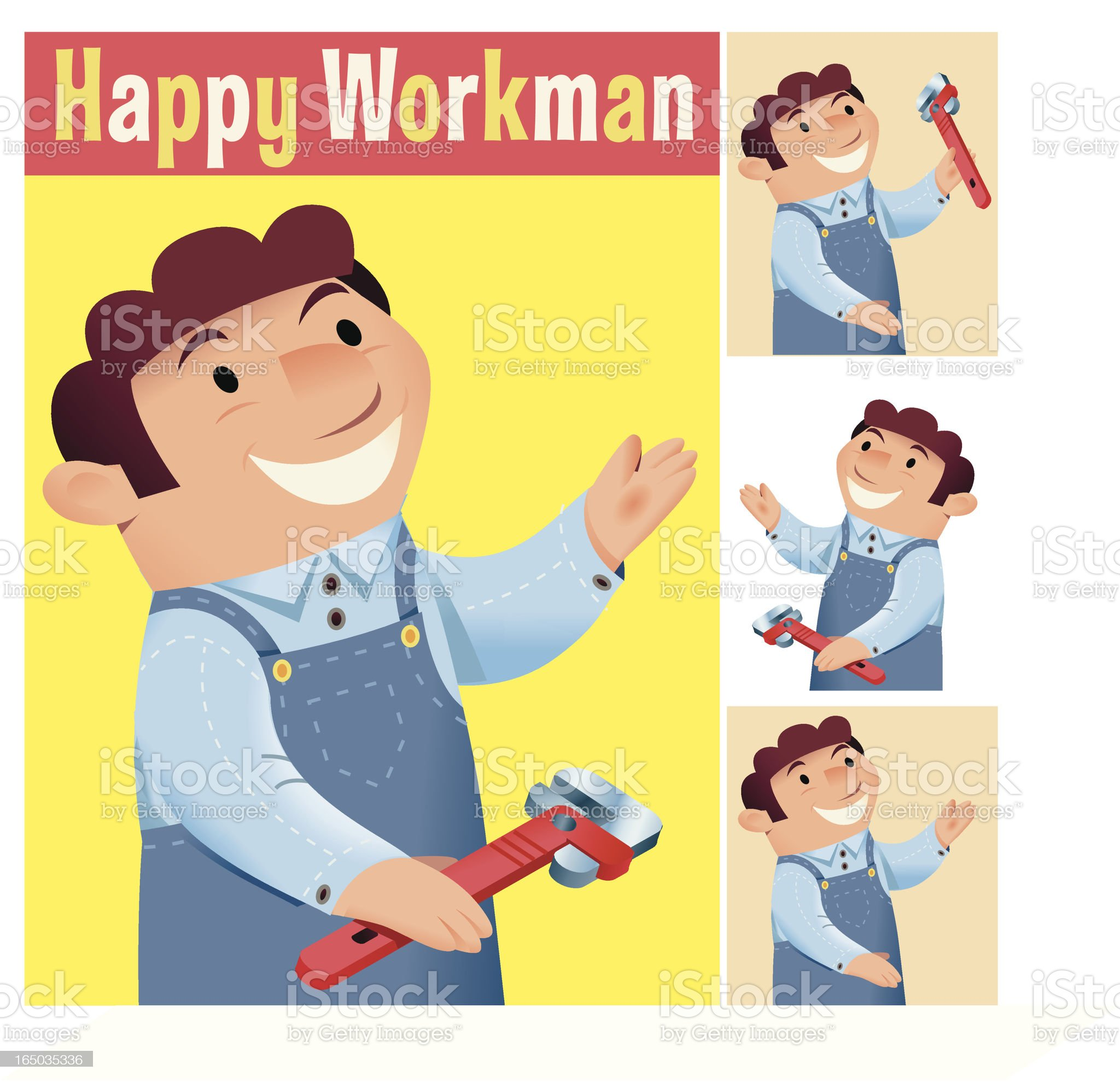 Happy Worker royalty-free stock vector art