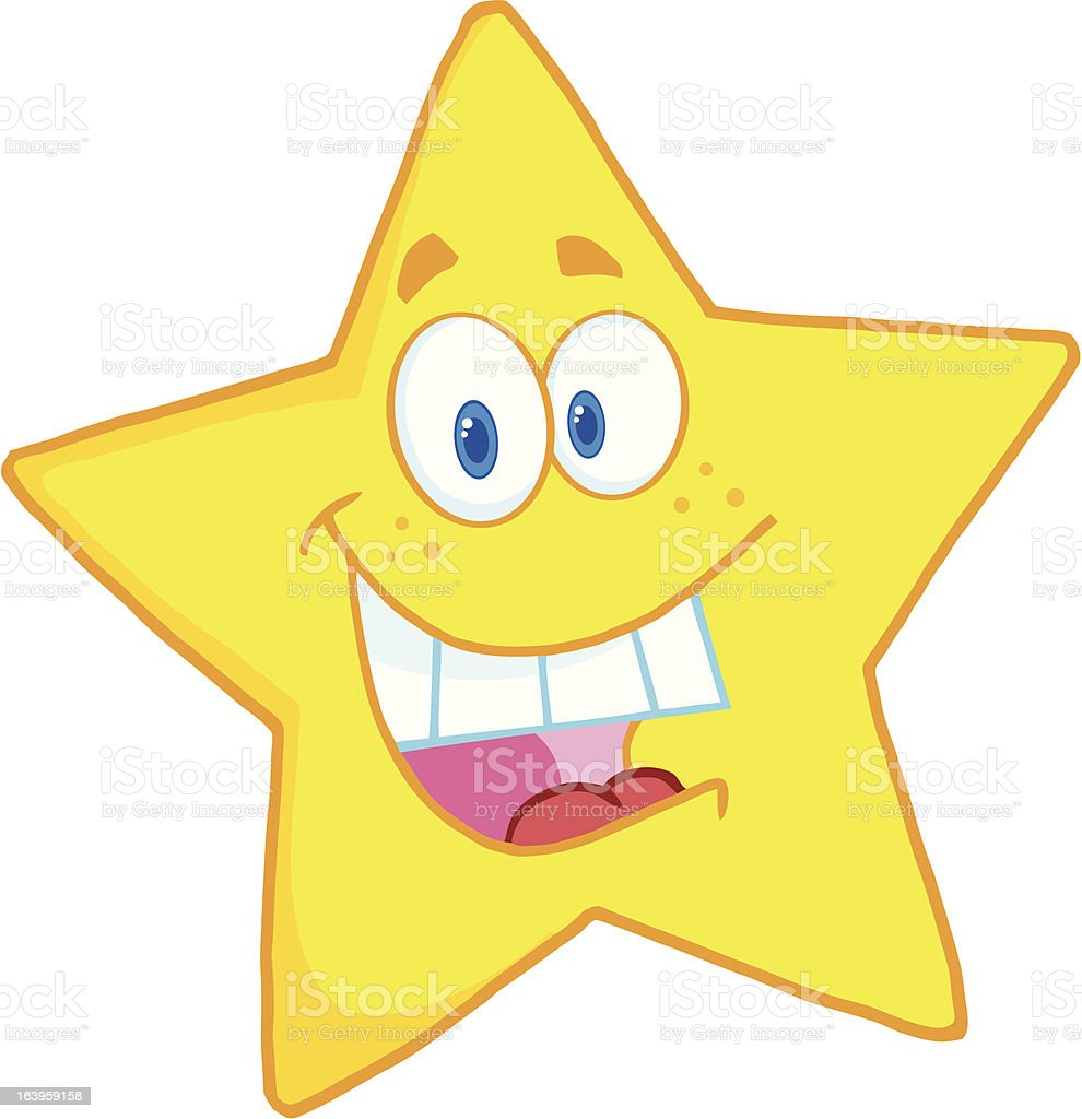 Happy Yellow Star royalty-free stock vector art