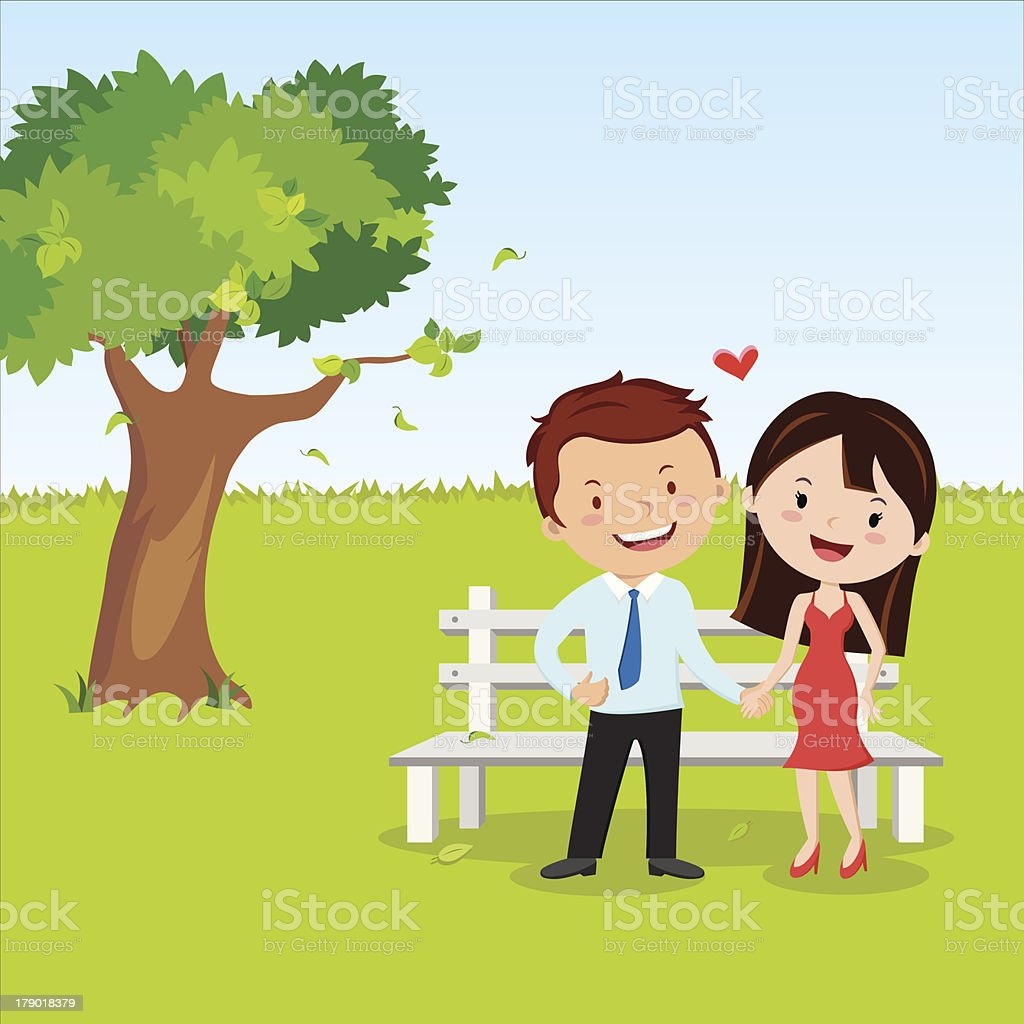 Happy young couple royalty-free stock vector art