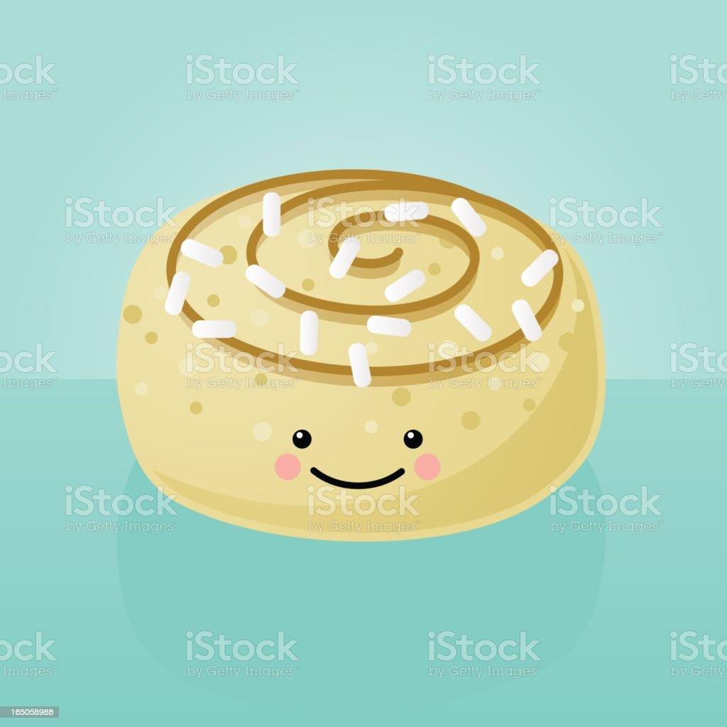 happyland: cinammon roll vector art illustration