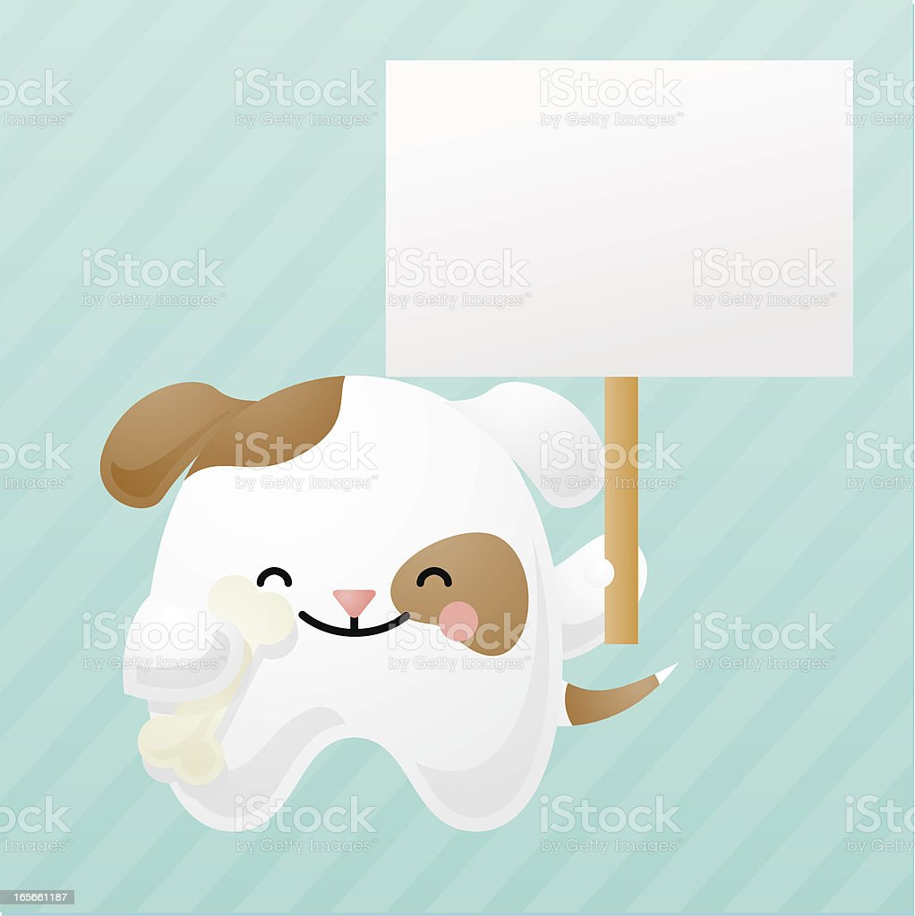 happyland: dog with sign royalty-free stock vector art