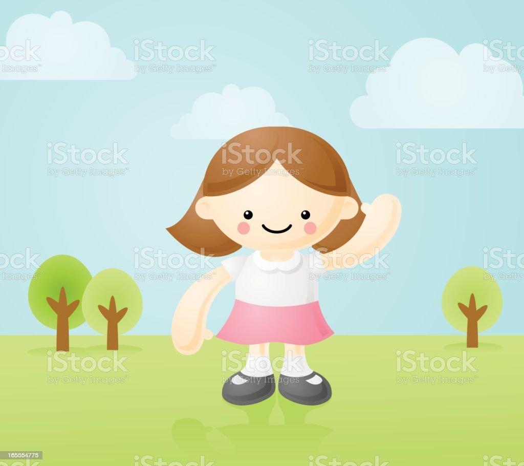 happyland: happy girl royalty-free stock vector art