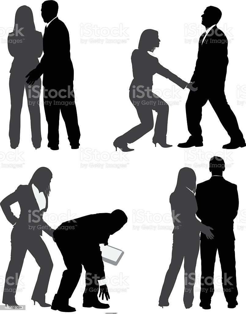 Harassment in the office royalty-free stock vector art