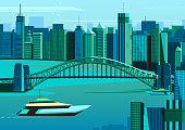 Harbor bridge in Sydney, Australia