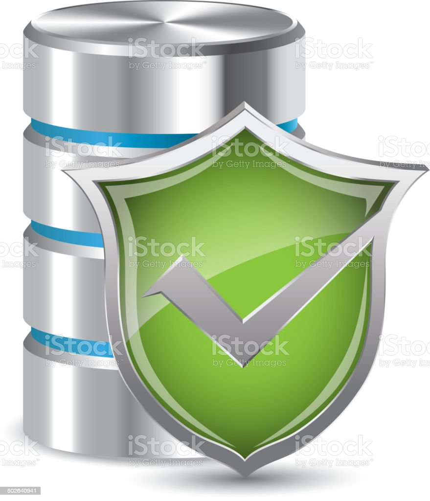 Hard disc security royalty-free stock vector art