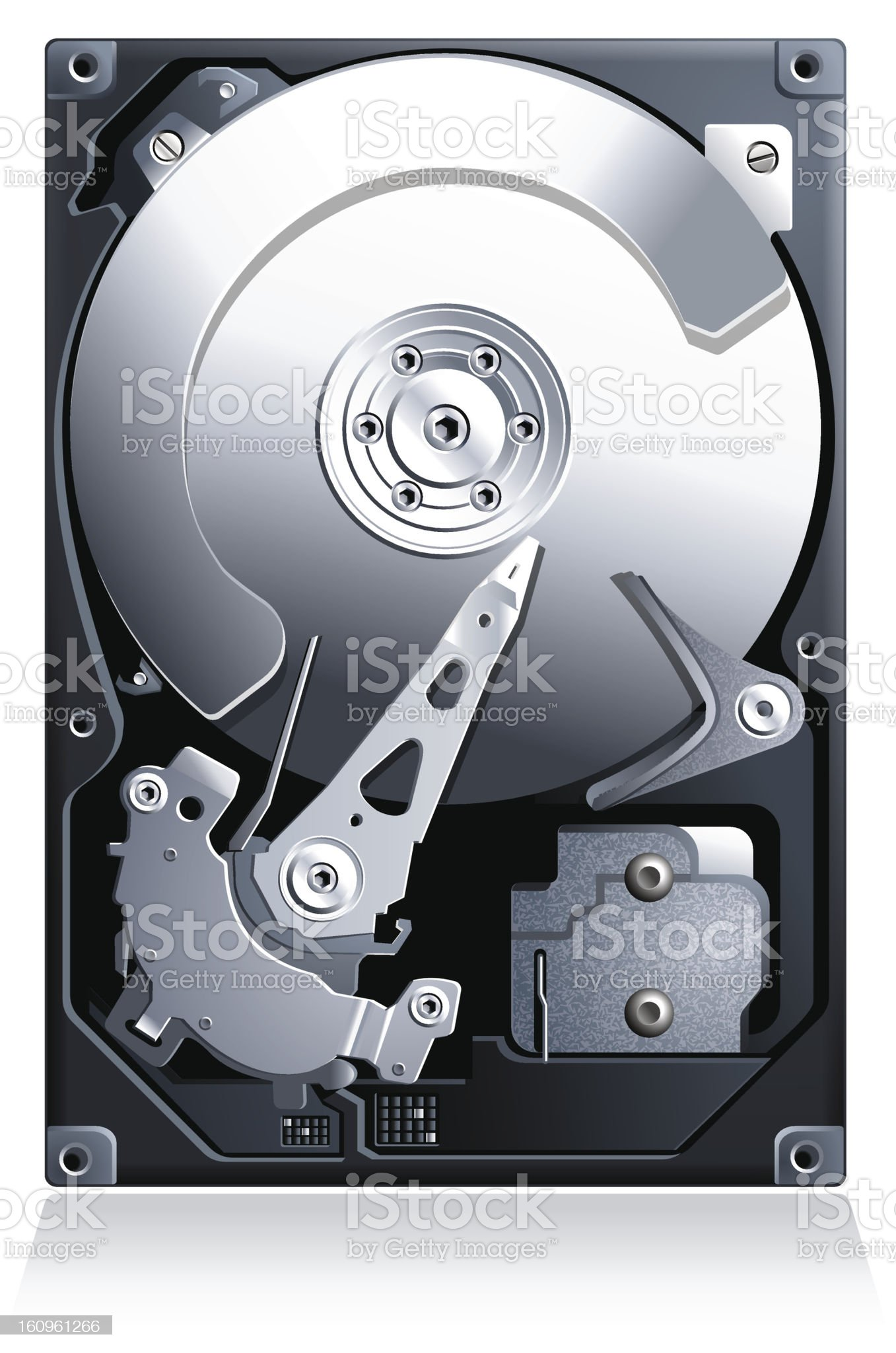 Hard disk drive HDD vector royalty-free stock photo