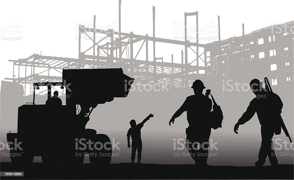 Hard Work Vector Silhouette royalty-free stock vector art