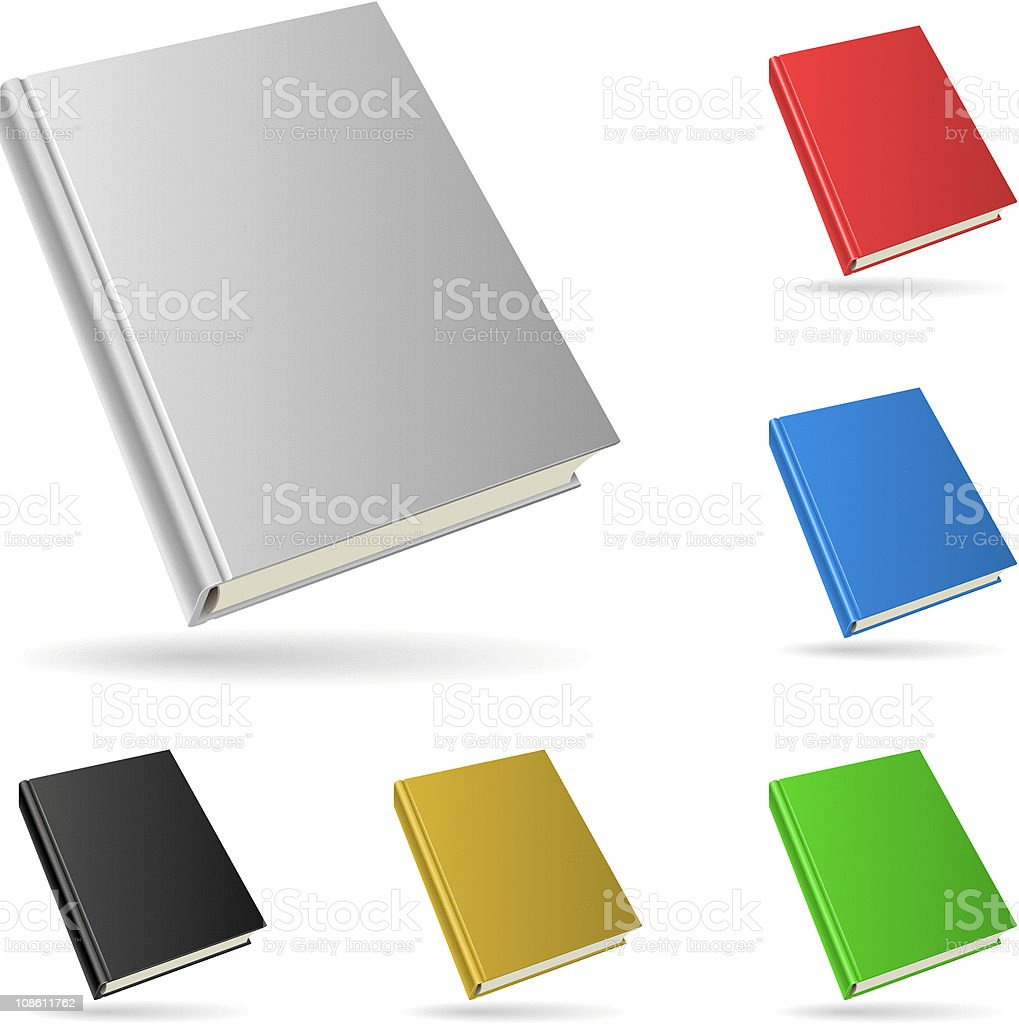 Hardcover book royalty-free stock vector art