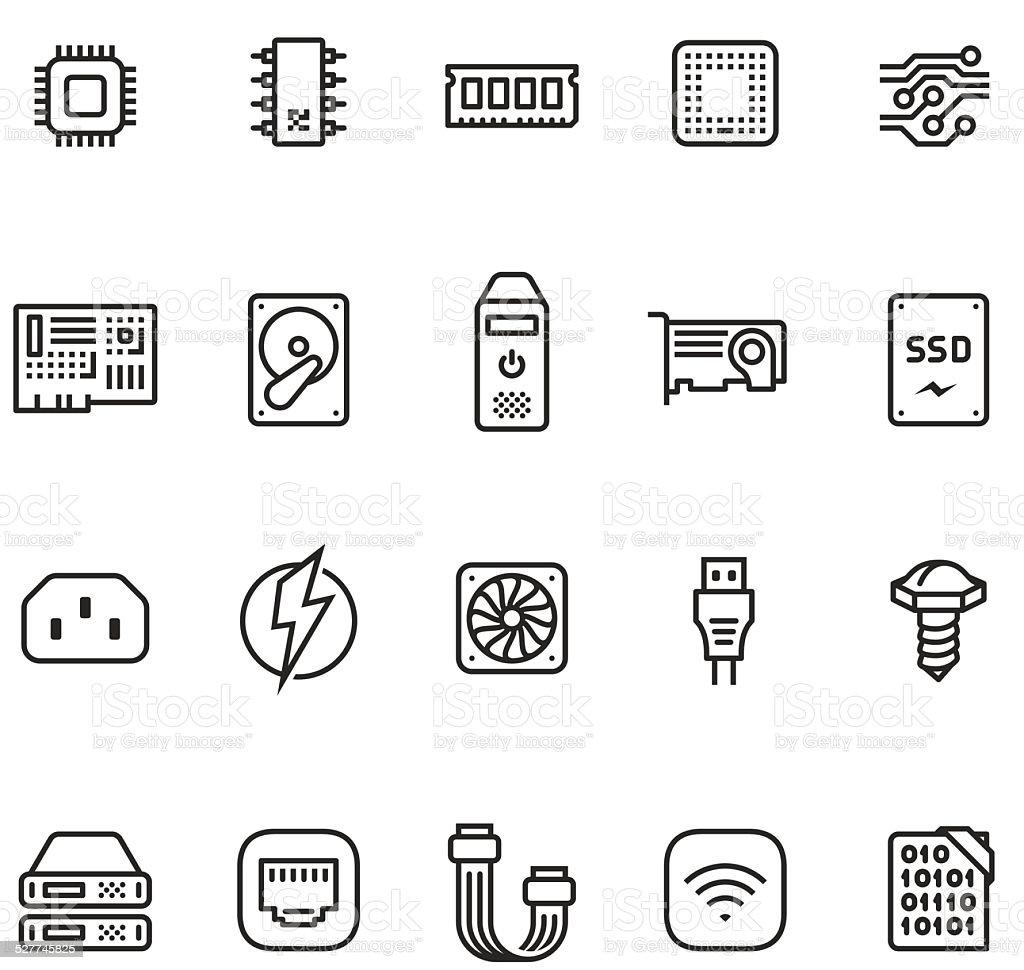 Hardware icon set - Unico PRO 2pt stroke vector art illustration