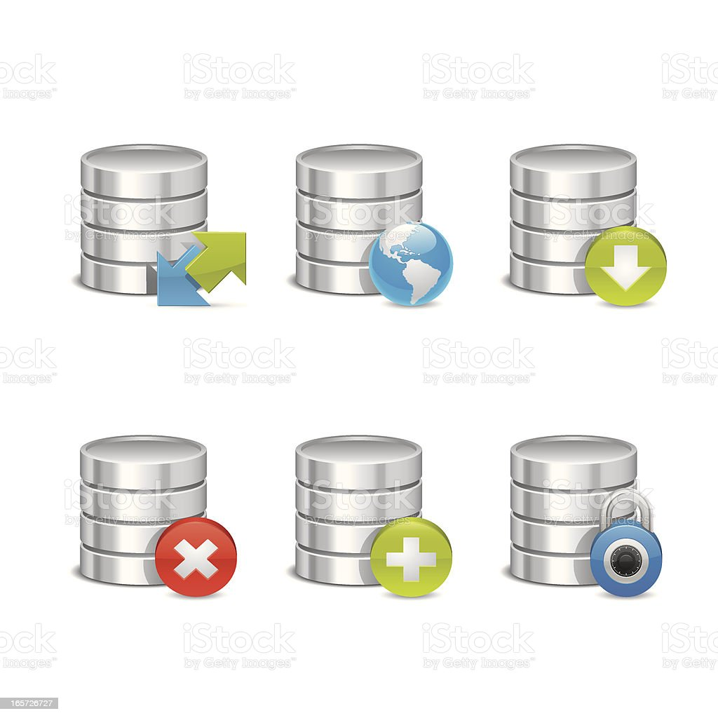 Hardware Icons - Hard Disc Set royalty-free stock vector art