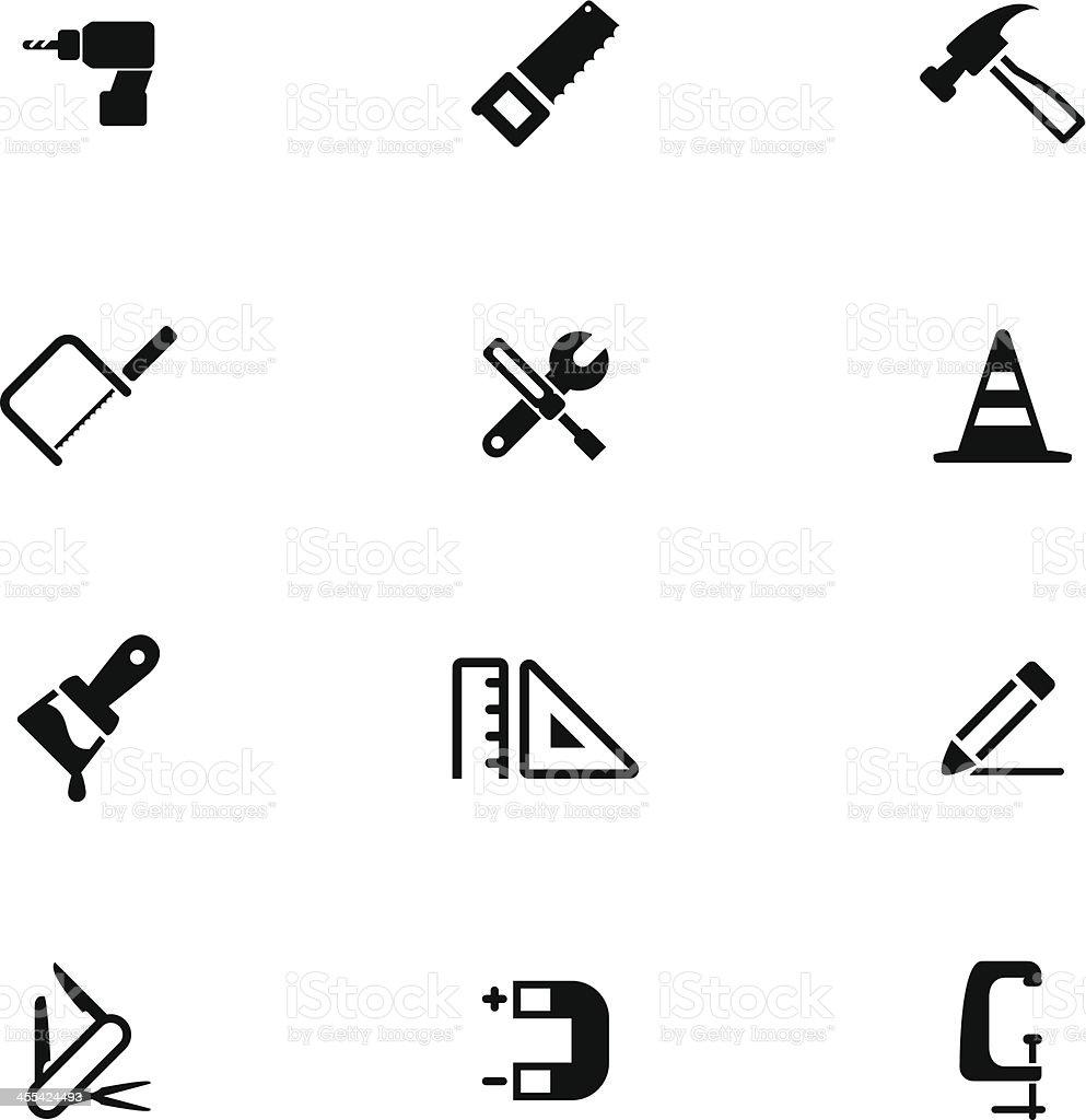 Hardware Tool Icon Set royalty-free stock vector art
