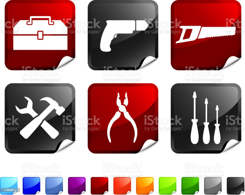 hardware tools royalty free vector icon set royalty-free stock vector art