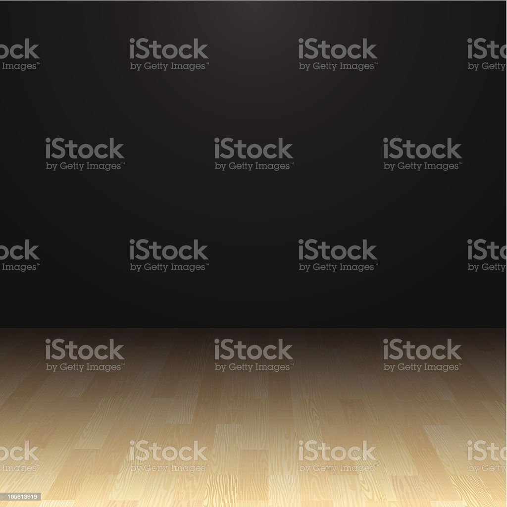 Hardwood Floor vector art illustration