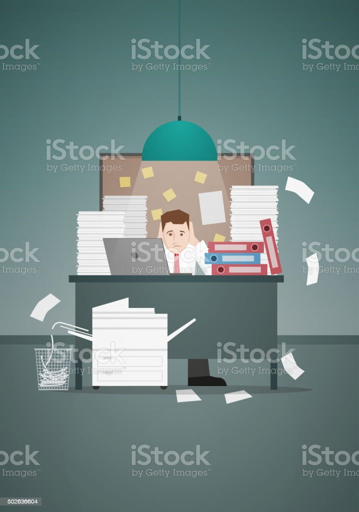 Hardworking vector art illustration