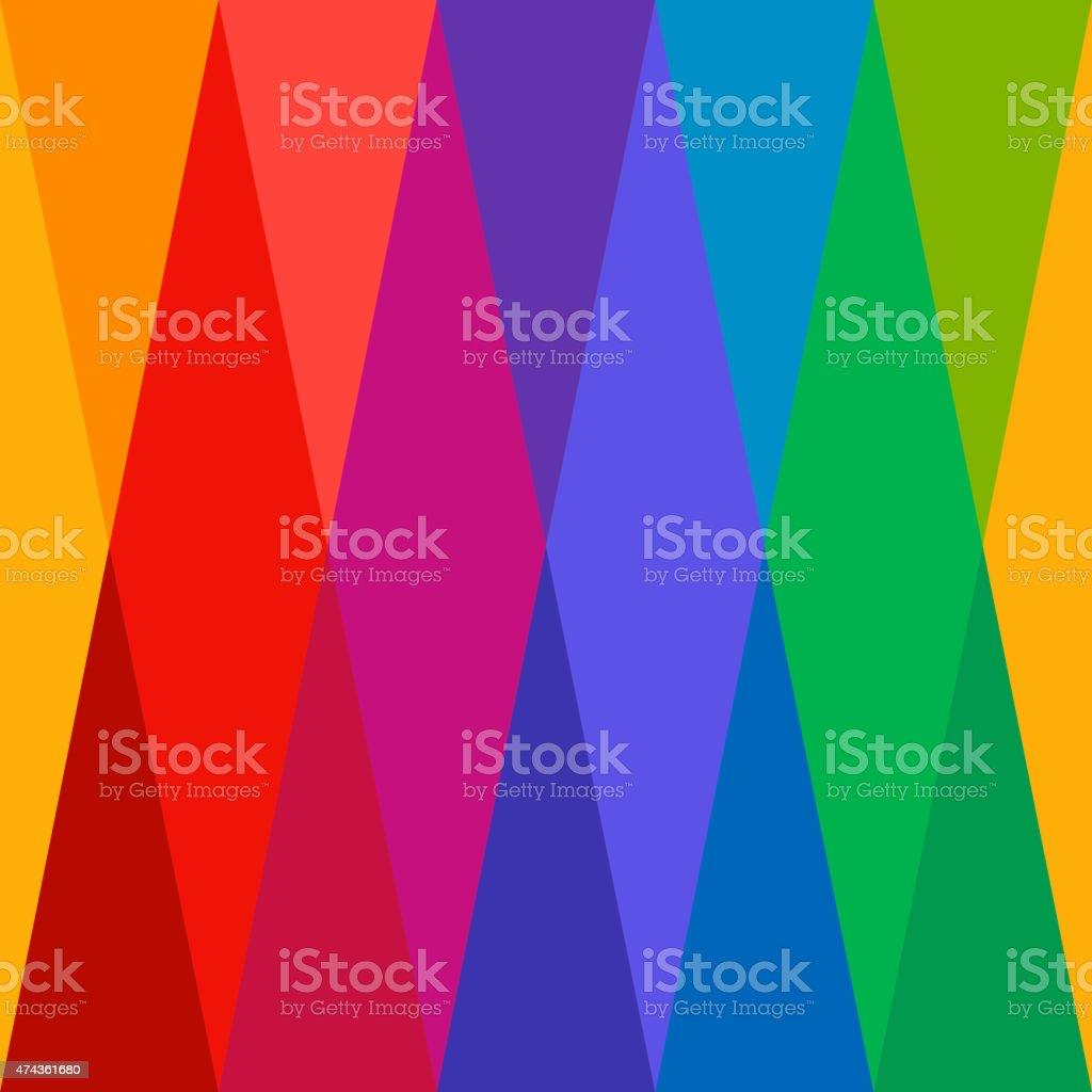 Harlequin Colorful Seamless Pattern vector art illustration