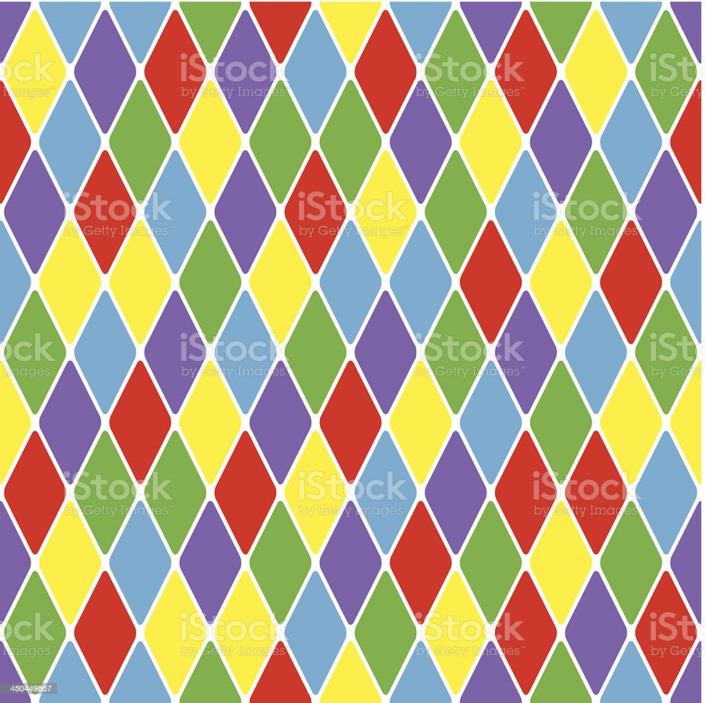 Harlequin parti-coloured seamless pattern 3.6 vector art illustration