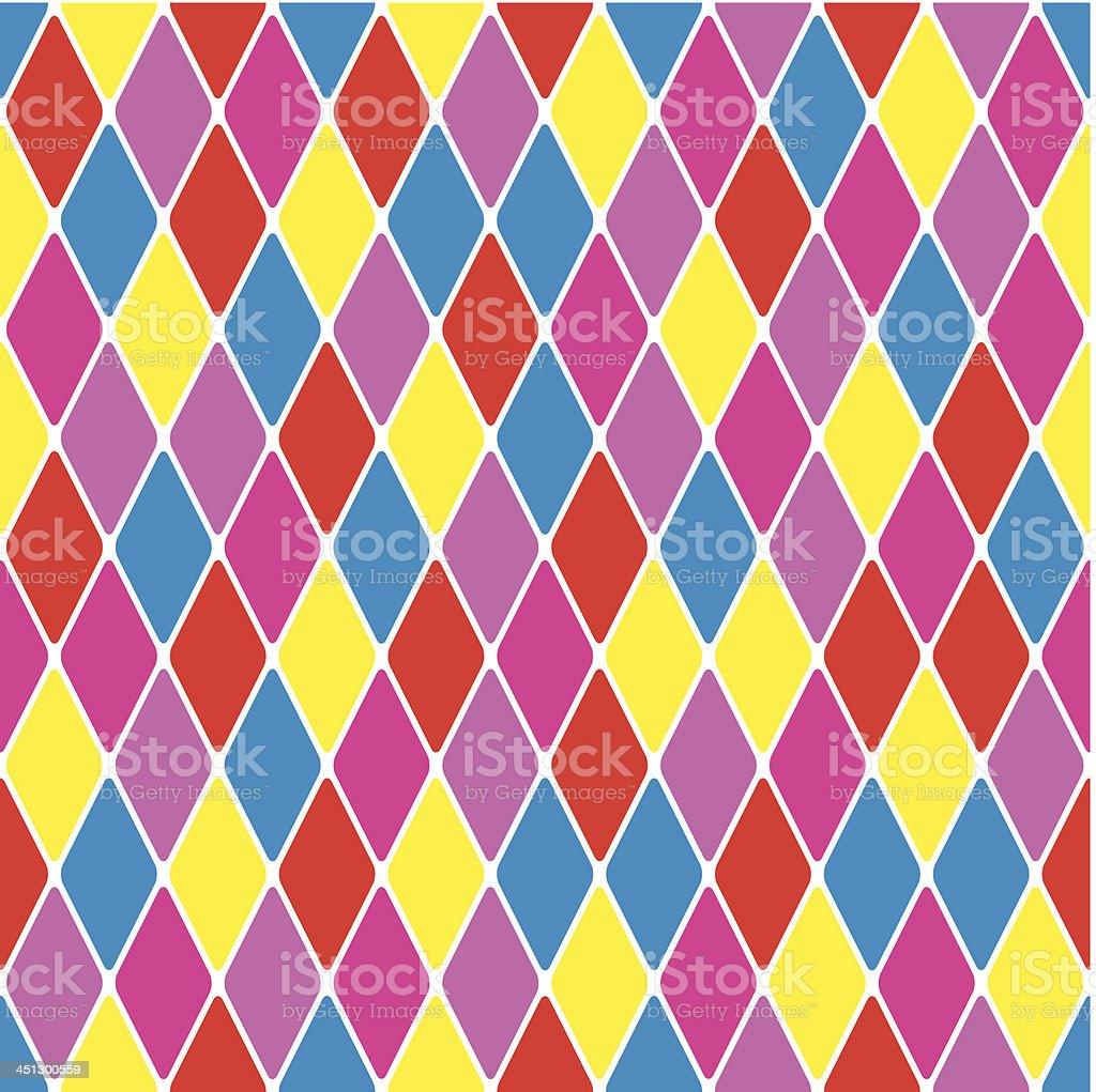 Harlequin parti-coloured seamless pattern 3.7 vector art illustration