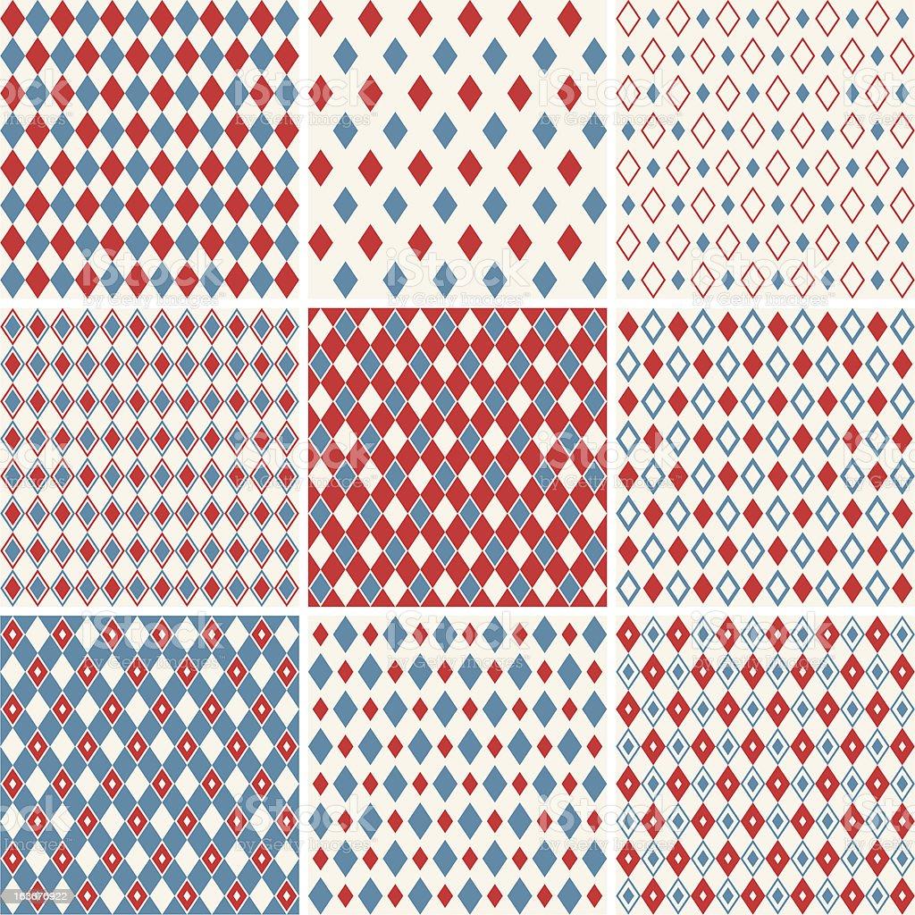 harlequin patterns vector art illustration