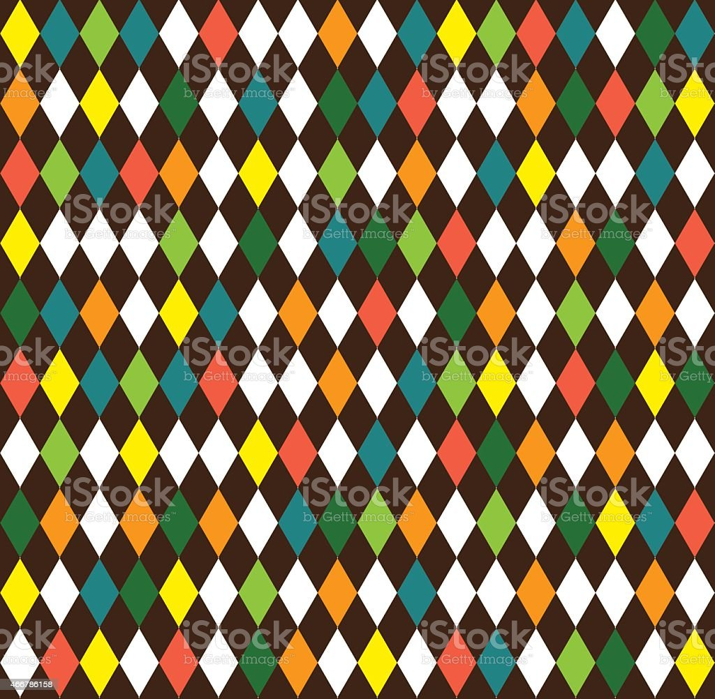 harlequin seamless background with rhombus vector art illustration