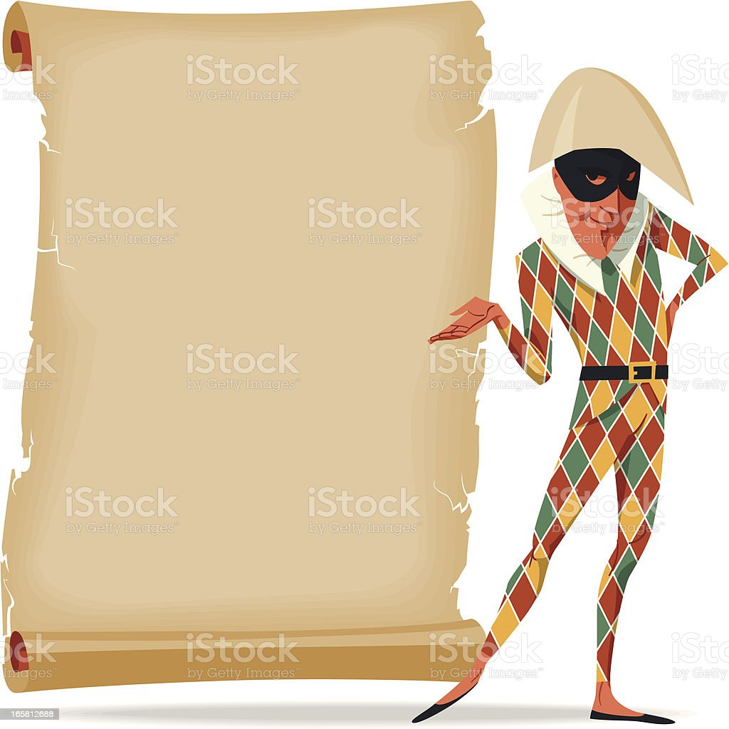 Harlequin royalty-free stock vector art