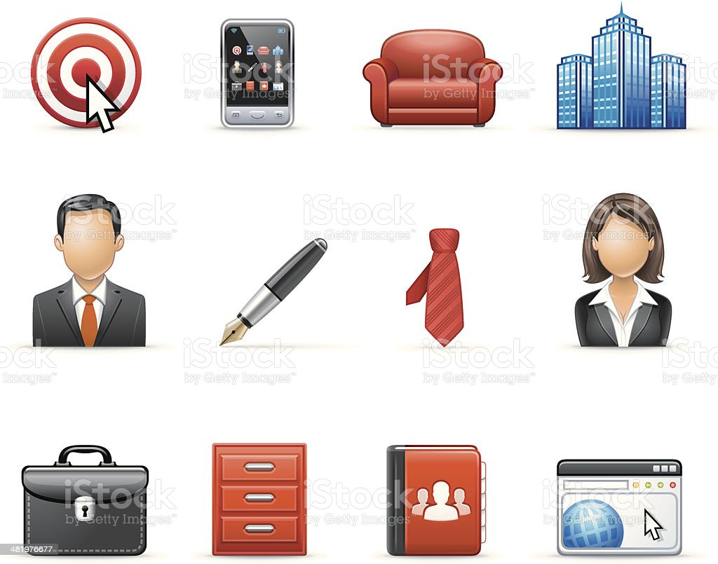 Harmony icon set | Business & Management royalty-free stock vector art