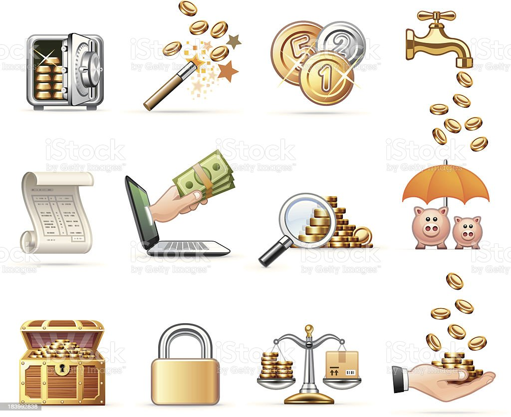 Harmony icon set | Money & Finance vector art illustration