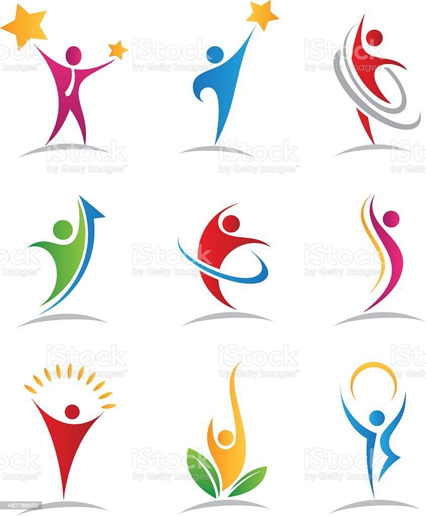 Harmony logos and icons royalty-free stock vector art