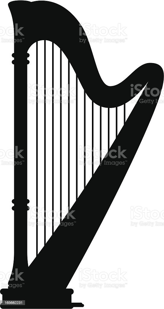 Harp Silhouette royalty-free stock vector art
