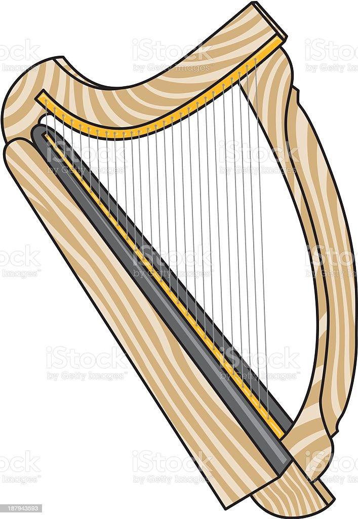 Harp royalty-free stock vector art