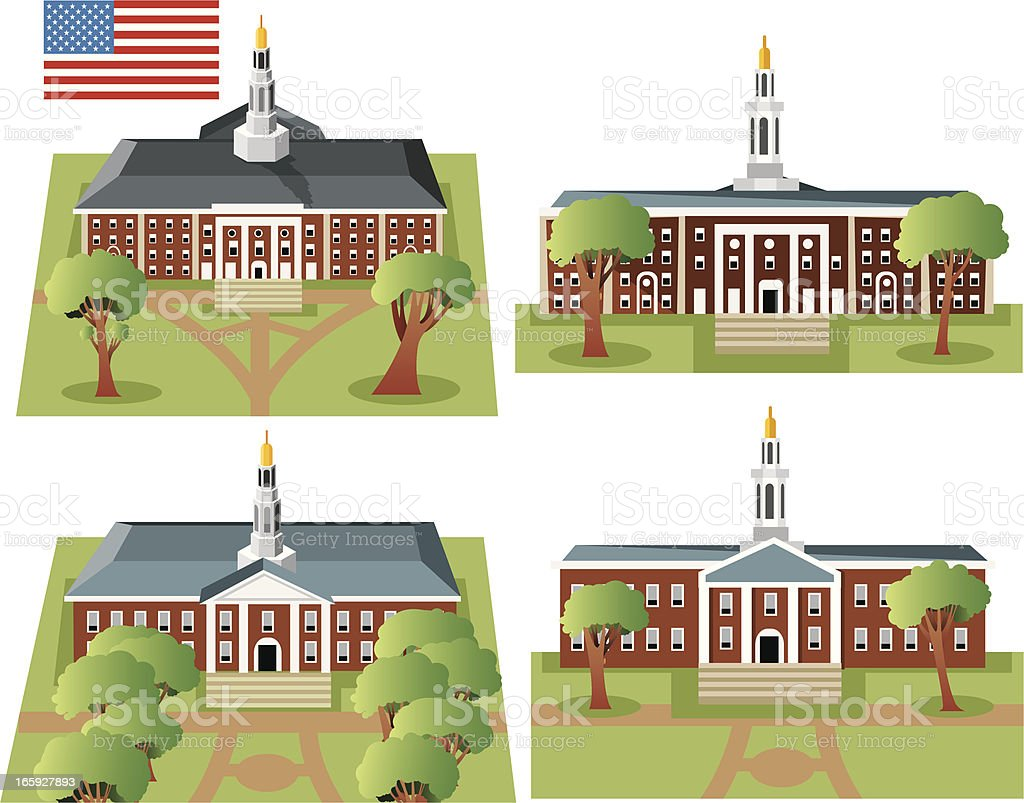 Harvard University royalty-free stock vector art