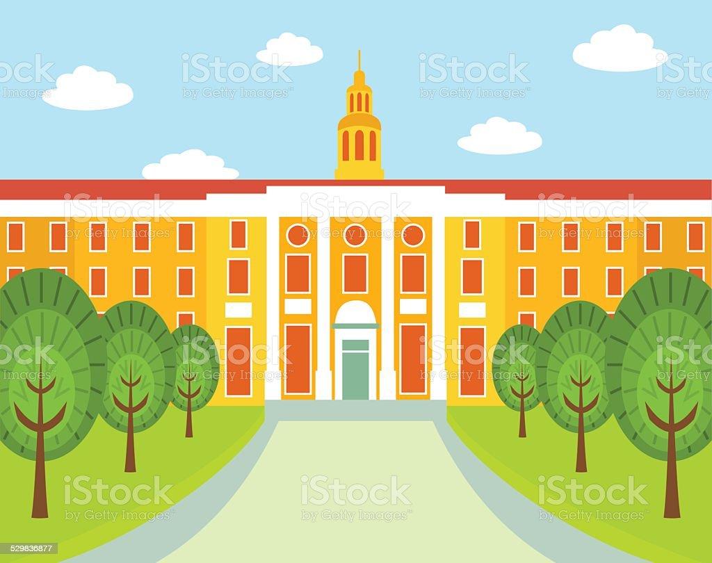 Harvard University vector art illustration
