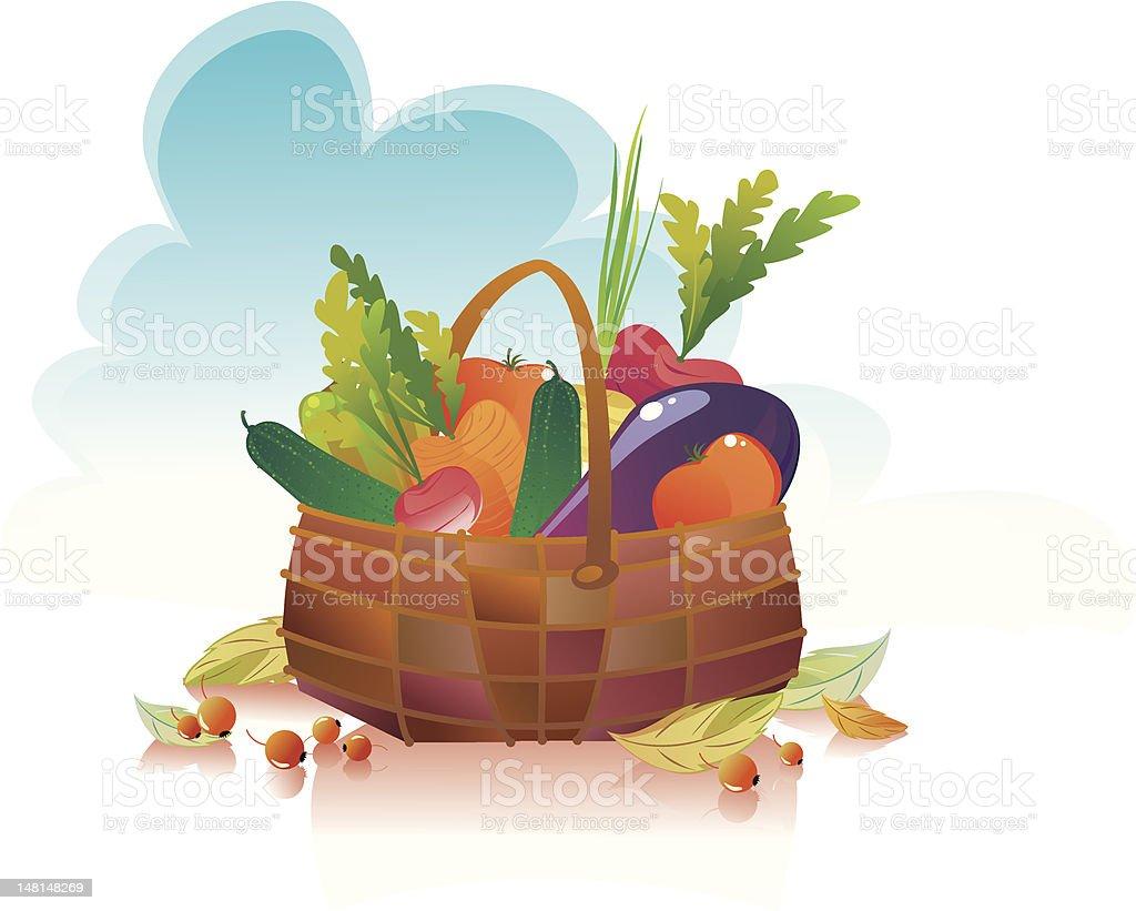 harvest basket royalty-free stock vector art