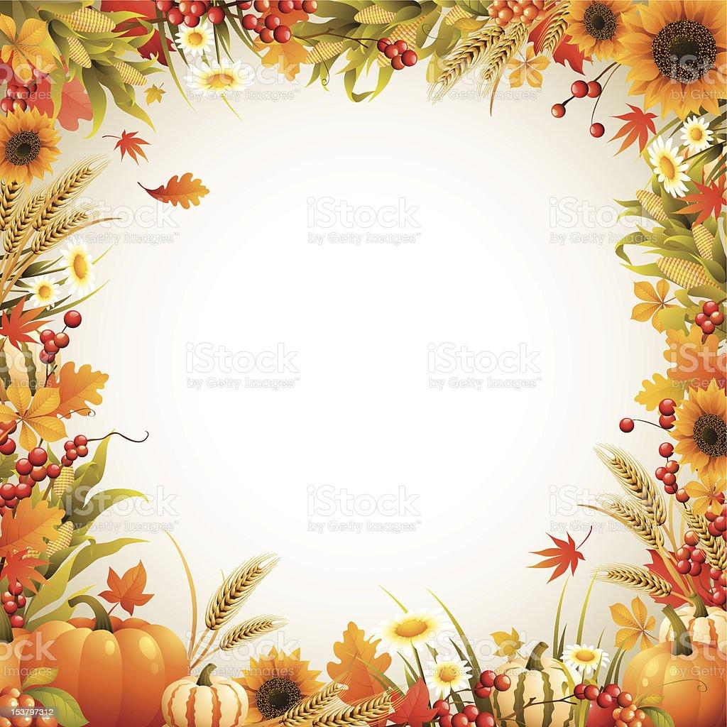 Harvest - boder vector art illustration