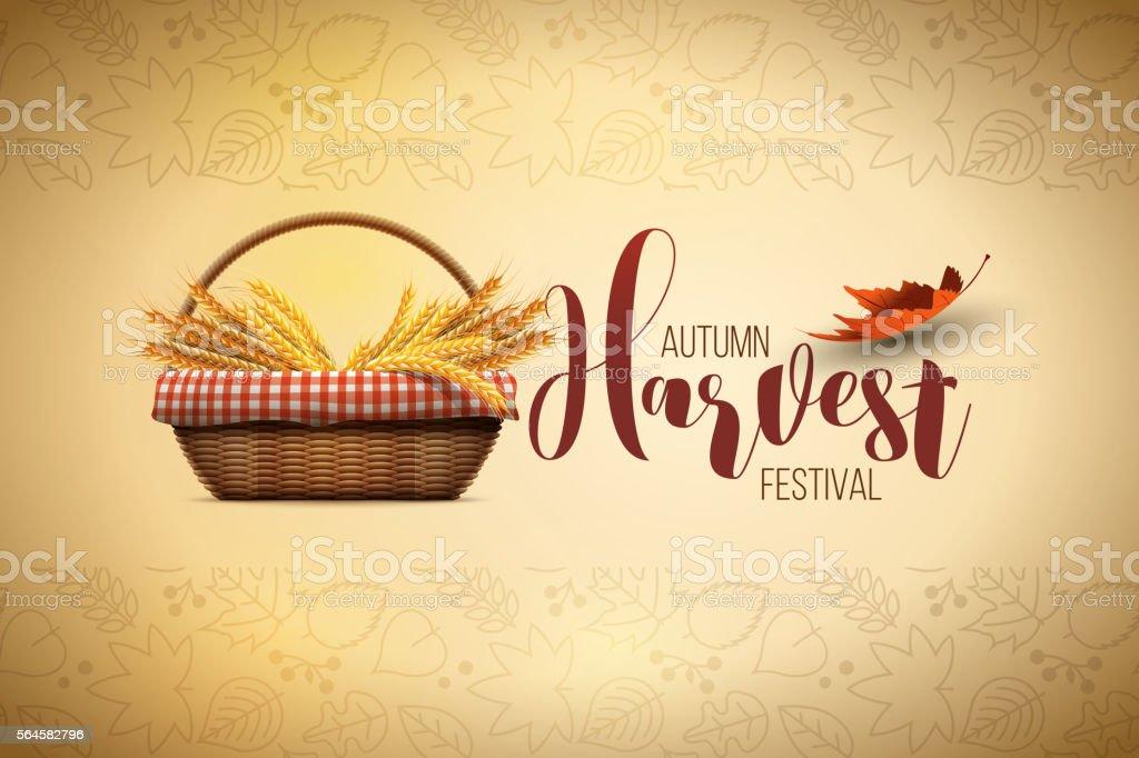Harvest Festival Poster Design vector art illustration