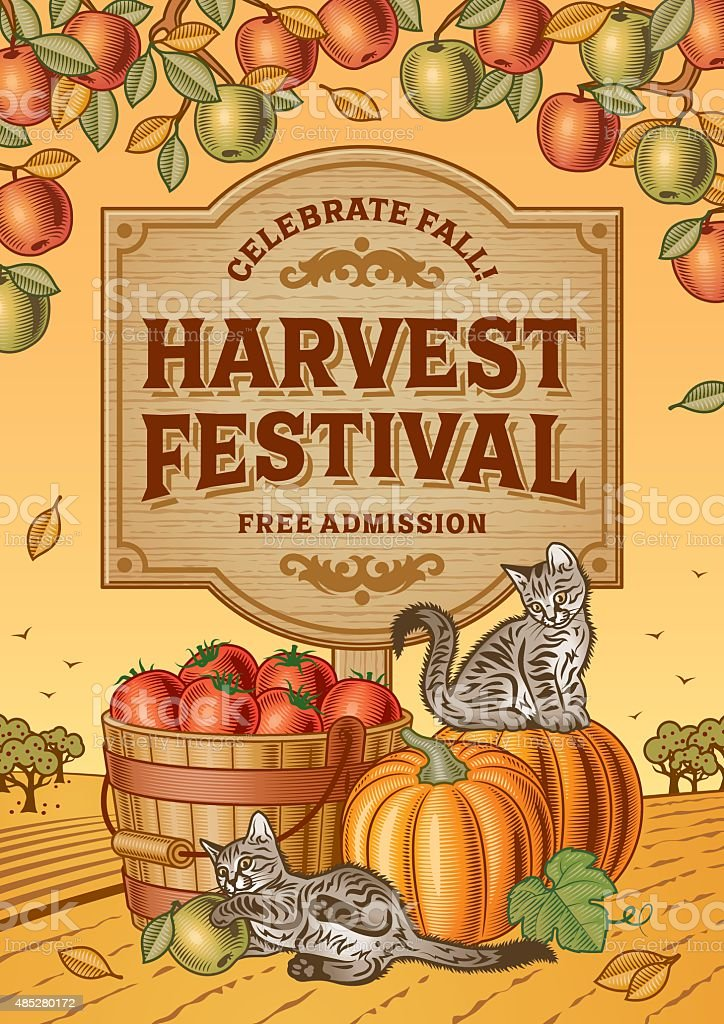 Harvest Festival Poster vector art illustration