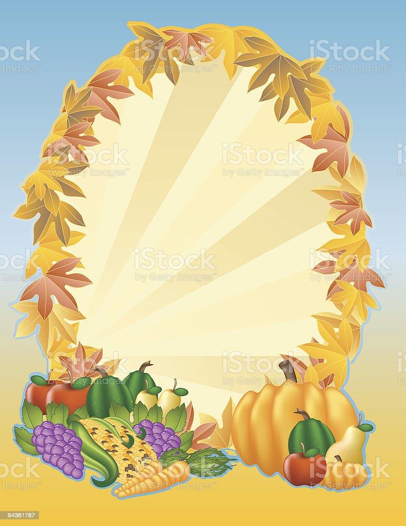 Harvest Frame vector art illustration
