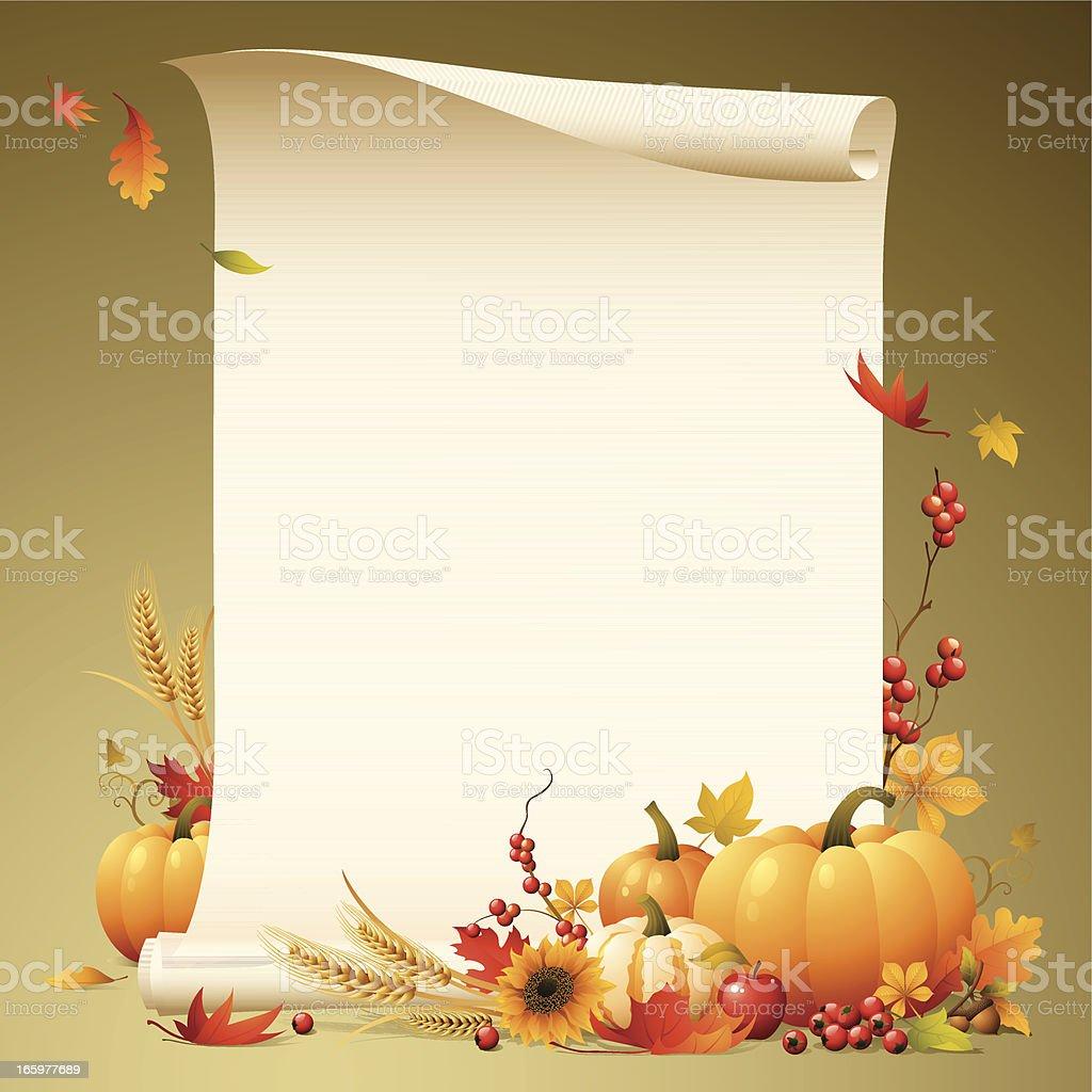 Harvest - scroll vector art illustration