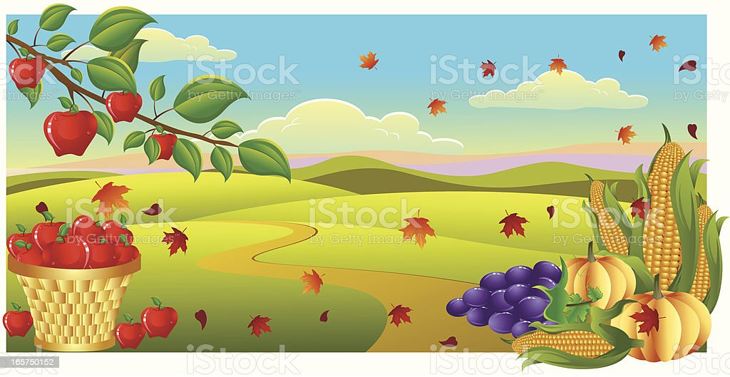 Harvest Time.. royalty-free stock vector art