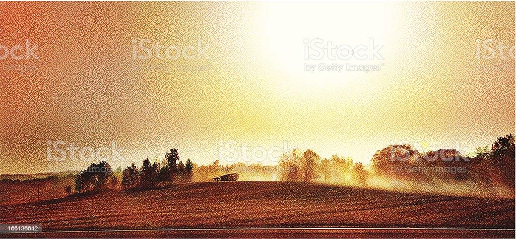 Harvesting Crops vector art illustration