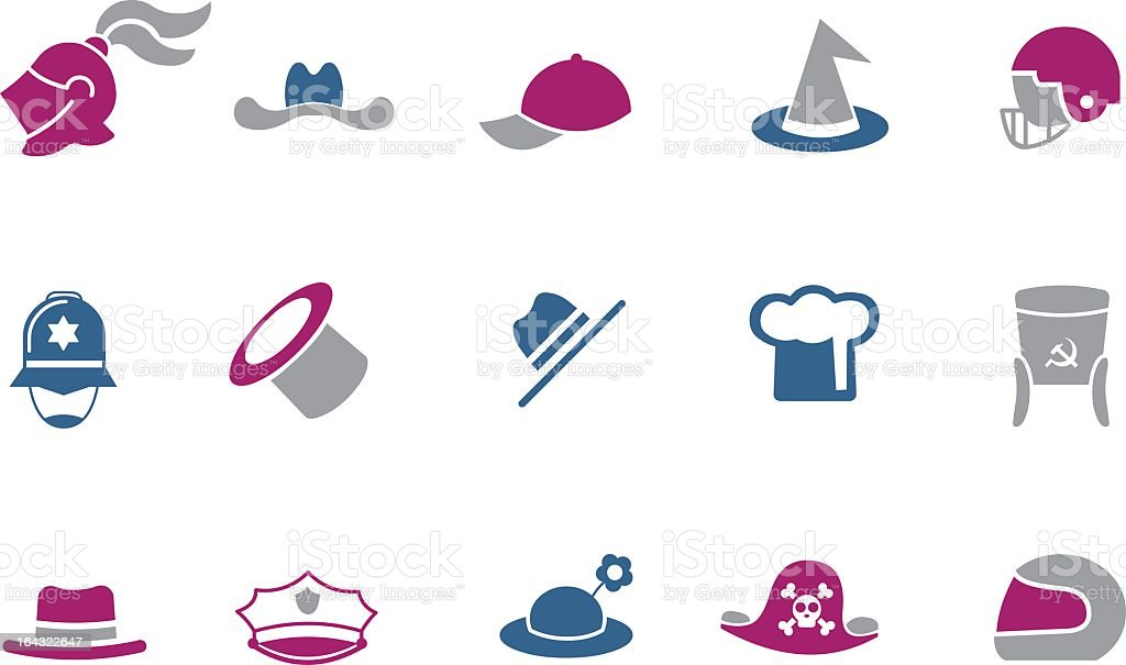Hat Icon Set royalty-free stock vector art