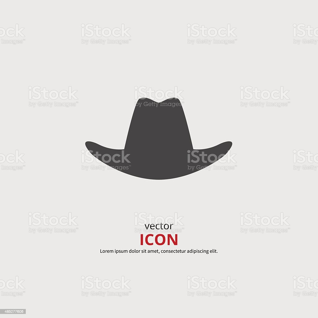 Hat icon vector art illustration