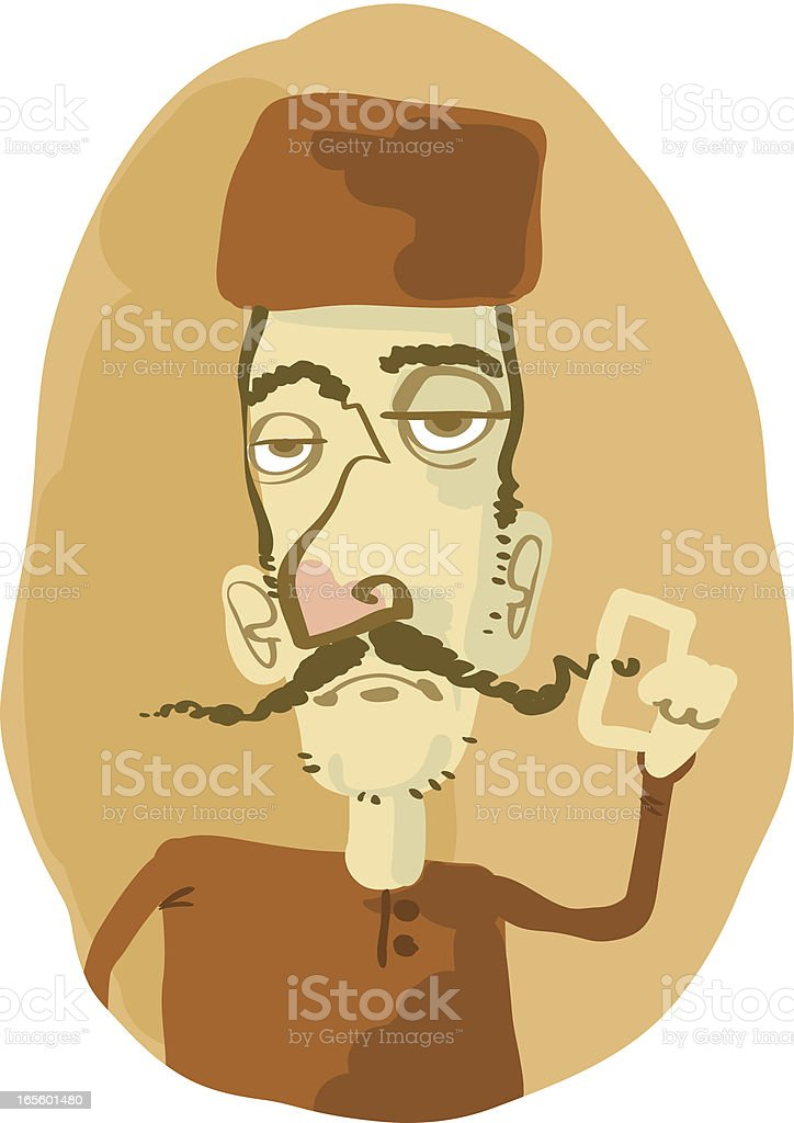 Hat & Mustache royalty-free stock vector art