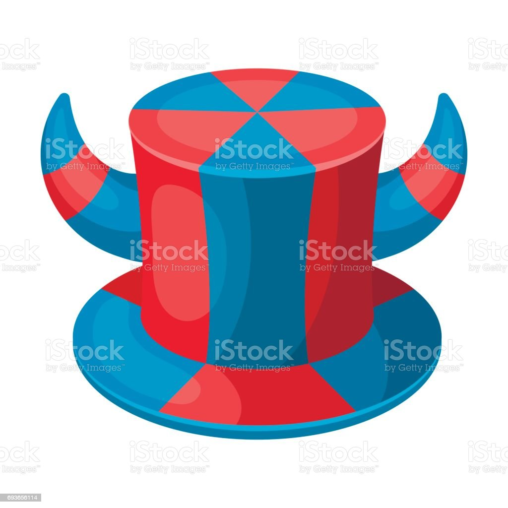 Hat of a fan with horns.Fans single icon in cartoon style vector symbol stock illustration. vector art illustration