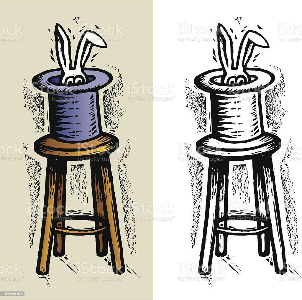 Hat Trick vector art illustration