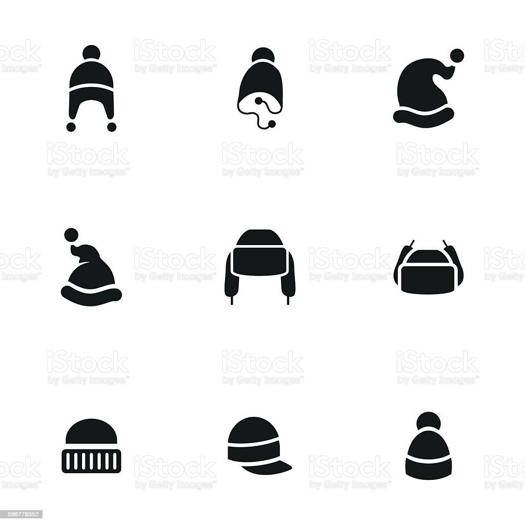 Hat vector icons vector art illustration