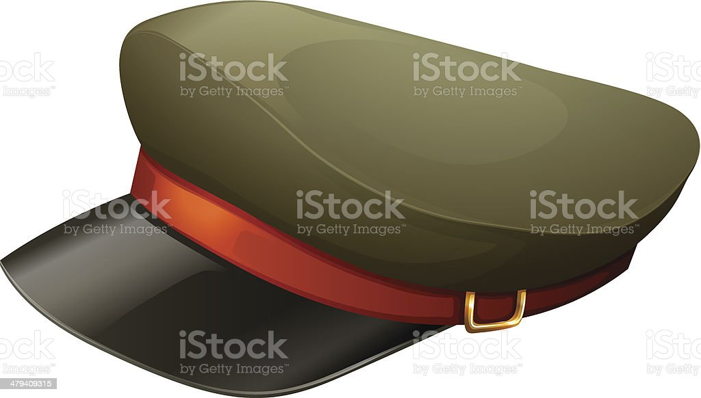 hat with a red belt vector art illustration