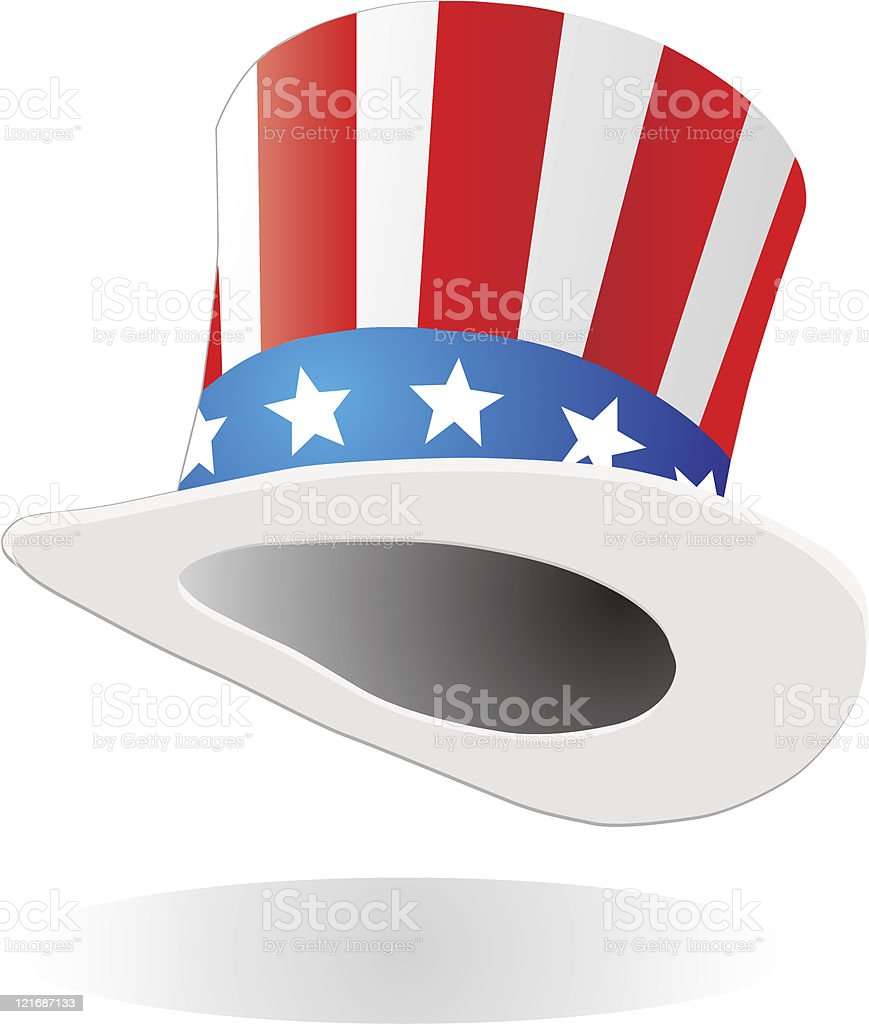 Hat with american flag theme royalty-free stock vector art