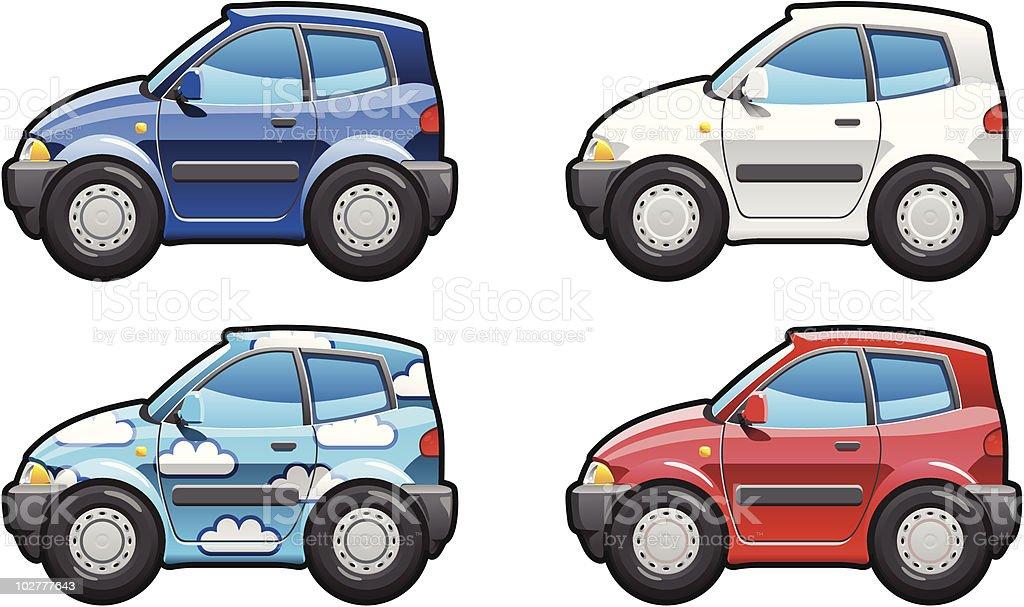 Hatchback(three door) royalty-free stock vector art