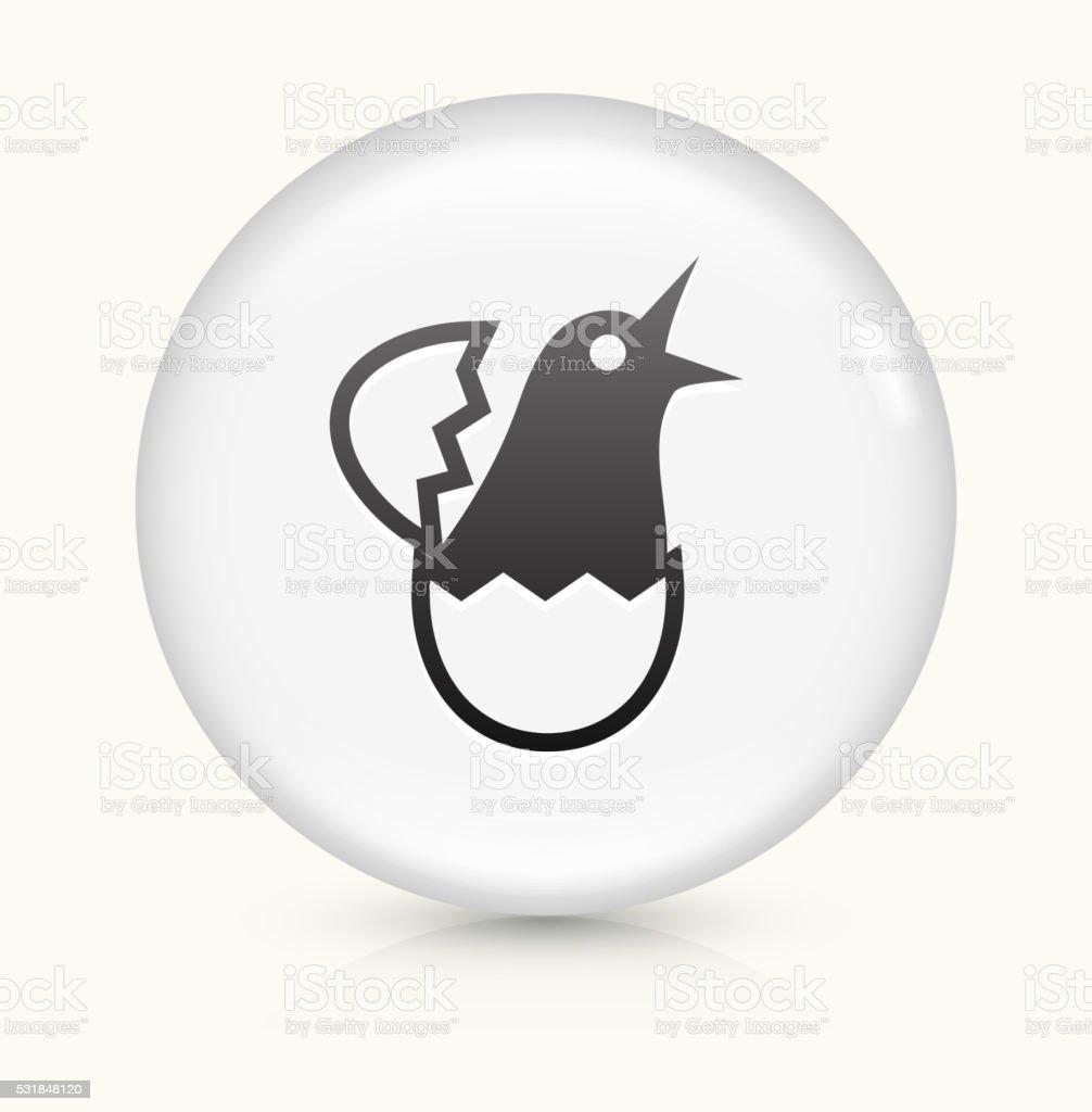 Hatching Bird icon on white round vector button vector art illustration