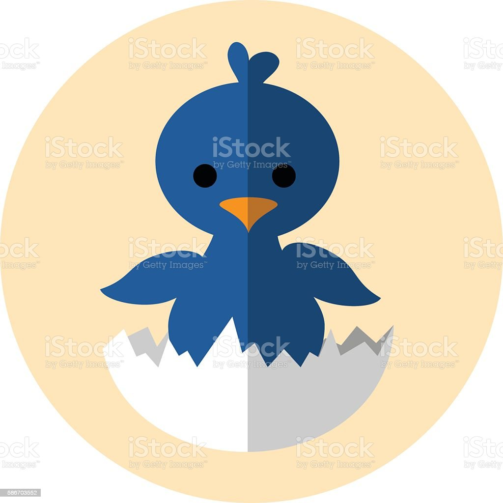 Hatching Chick vector art illustration